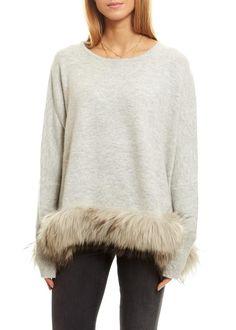 Dom Goor Light Grey Cropped Swing Fur Jumper - Jessimara