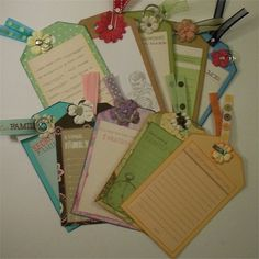 Scrapbook Tags   Journal   Tags 10 Large by RaesTurquoiseTurtle, $7.00