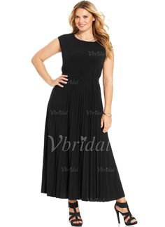 Mother of the Bride Dresses - $118.13 - A-Line/Princess Scoop Neck Ankle-Length Chiffon Mother of the Bride Dress With Ruffle (0085058979)