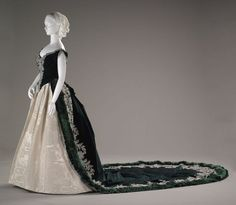 Imperial Russian court dress designer Worth, Charles Frederick English 1825-1895 creation date about 1888