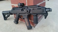 CZ Scorpion Evo S1 SBR with an Aimpoint T1 and a Magpul Colapsable stock.