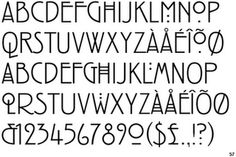 Typeface based on Mackintosh's handwriting and lettering