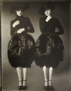 Photo by Sarah Moon for Azzedine Alaia Haute Couture, 2006 Sarah Moon, Richard Avedon, Moda Fashion, Fashion Art, Editorial Fashion, Vintage Fashion, Fashion History, Dark Fashion, Fashion Models