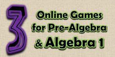 Pre-Algebra and Algebra Games Algebra Games, Algebra 1, Math Games, Math Teacher, Math Classroom, Classroom Ideas, High School Algebra, Secondary Math, 7th Grade Math