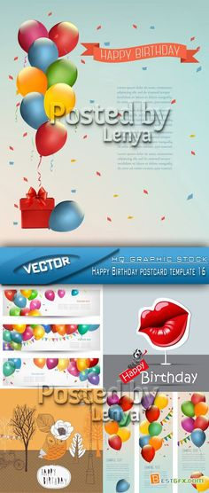 Birthday PostCard Template Postcard template, Birthday postcards - postcard template