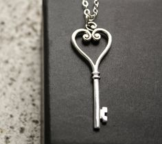 Long key necklace. I love a simple long necklace with most outfits