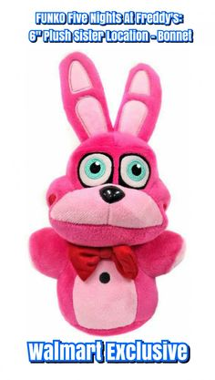 """Funko Five Nights At Freddy's   FNAF Sister Location 6"""" Collectible Plush Figure Series 3 - Bonnet (Walmart Exclusive)"""