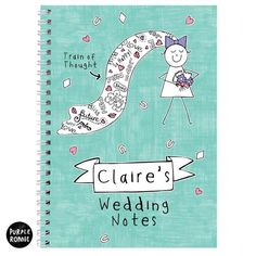 Personalised Purple Ronnie Bride Note Book