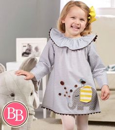 Dress her in style this winter @brandisboutiqueshop with our Mud Pie Elephant Appliqué Dress!! #BBKids #mudpie #winterwardrobe www.brandisboutiqueshop.co