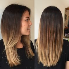 Balayage ombre, dark to light, brown to blonde hair. Color melt. #hairbykaterina