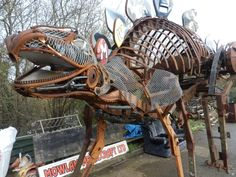 """Outstanding """"metal art diy"""" info is available on our internet site. Check it out and you wont be sorry you did. Recycled Metal Art, Scrap Metal Art, Sculpture Metal, Lion Sculpture, Dinosaur Garden, Metal Welding, Steel Art, Metal Tree, Pebble Painting"""