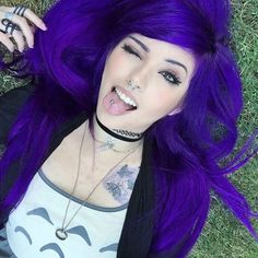 @theledabunny looking amazing with her Purple Rain coloured hair from Arctic Fox Hair Colour ♥ www.beserk.com.au/arctic-fox #arcticfox #haircolour #purplehair