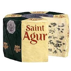 St. Agur Cheese (France) Obviously a blue cheese.
