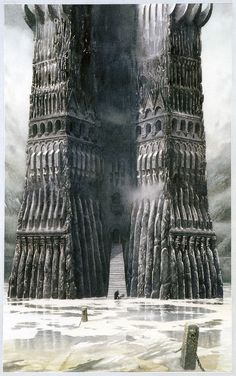 Orthanc (Color) - Alan Lee (off 'The Lord of the Rings Sketchbook')