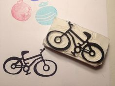 Bicycle by Natàlia Trias (from the Sarah Kathryn's template) #stamp #rubberstamp