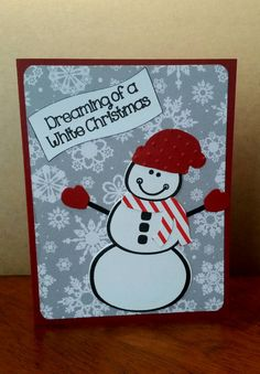 Check out this item in my Etsy shop https://www.etsy.com/listing/246927789/white-christmas-snowman-card