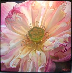 lotus - pretty in pink Amazing Flowers, Pretty In Pink, Beautiful Flowers, My Secret Garden, Plantar, Silk Painting, Lotus Painting, Belleza Natural, Flower Art