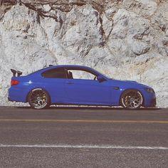 BMW E92 M3 blue