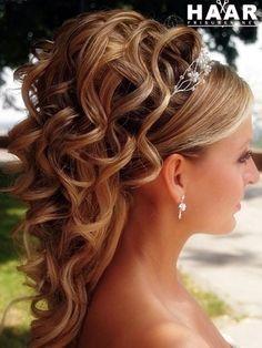 Hochzeit Frisuren mittellange Haare Eğitimi Brautabschlussball für