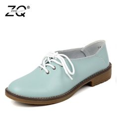 5b940b1f8d05 Genuine Leather Oxford Shoes Women