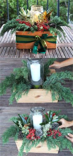 DIY Christmas table