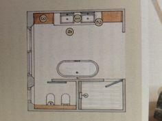 plattegrond voor badkamer