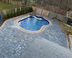 14 Best Cambridge Paver Pool Patio w/ Waterfall, Seatwalls and