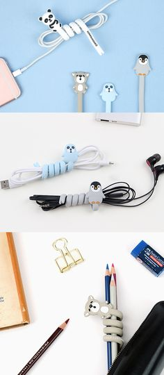 Simply wrap the Animal Cable Organizer around your cables and make it super neat and adorable! Living an organized life isn't that difficult!