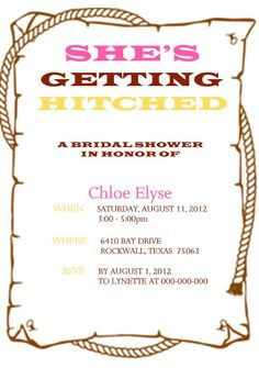 Western Bridal Shower