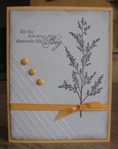Scrappin' and Stampin' in GJ-- scored the lines at an angle on this card