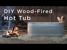 15 Genius Ways to Use Stock Tanks in Your Home and Backyard / wood-fired hot tub / wood burning hot tub