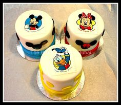 Mini Cake with cartoons