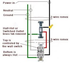 how to wire switches combination switch outlet light fixture wiring a switched outlet also a half hot outlet