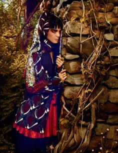 On The Edge Of The Wood | Katryn Kruger | Miguel Reveriego #photography |  Vogue Russia November 2012