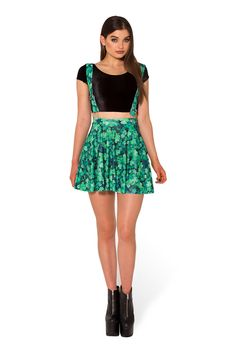 Lucky Pinafore Pocket Skater Skirt - LIMITED (WW $80AUD / US $75USD) by Black Milk Clothing