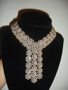Elegant Black Trio Necklace Part 2 of 2, handmade jewelry by Mariel.