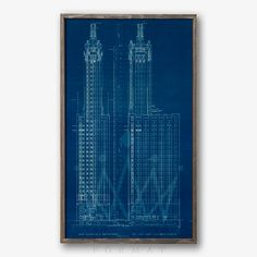 Chrysler building blueprint drafting pinterest chrysler chicago carbon and carbide building blueprint a simply divine vintage rendering of the chicago carbide and carbon buildings blueprints in fine retro malvernweather Image collections