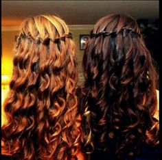 This is a cute hairstyle for maybe a school day.
