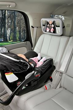 Keep an eye on your rear-facing baby in the car with the Britax Back Seat Mirror.