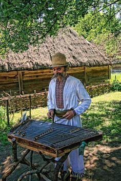 Traditional Ukrainian Musician    Taken at Pirogovo Musuem, outside of Kiev.