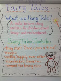 fairy tale reading unit - Google Search