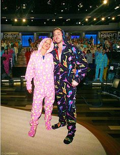 Who doesn't love footy pajamas and Ryan Gosling and Ellen Degeneres:) Big Sean, Ellen Degeneres, The Ellen Show, Pjs, Hey Girl, Michael Kors, Anna, In This Moment, Just For Laughs