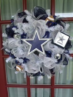 Hey, I found this really awesome Etsy listing at http://www.etsy.com/listing/160891377/dallas-cowboys-fan-navy-silver-and-white