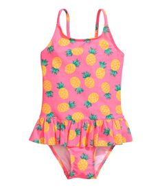 2ca31effd06c1 Fully lined swimsuit with a printed pattern. Narrow shoulder straps and