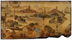 Demiak: Dordrecht, 1421.  10 x 19 cm. Oil & lacquer on MDF,  2011