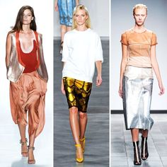 metallic fashion for women | Fashion Trends to Love from NY Fashion Week ... | All Women Stalk