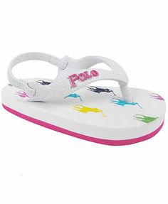 Ralph Lauren Toddler Girls' or Toddler Boys' Amino Flip Flops
