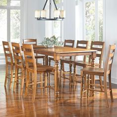 Roanoke 9 Piece Counter Height Dining Set By AAmerica