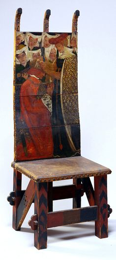 This is a great idea for a chair or a table top.    William Morris and Dante Gabriel Rossetti, The Arming of Knight, c. 1856-57