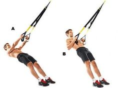The TRX low row is a great exercise for working the forearms, biceps and back muscles